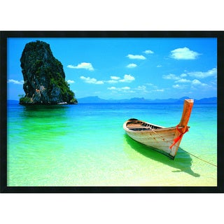 'Phuket' Framed Textured Art Print