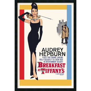 'Audrey Hepburn - Breakfast at Tiffany's' Framed Textured Art