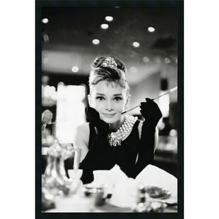 'Audrey Hepburn - Breakfast at Tiffany's' Framed Textured Wall Art