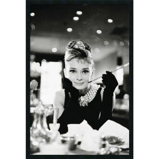 Audrey Hepburn-Breakfast at Tiffany's' Framed Art Print with Gel Coated Finish