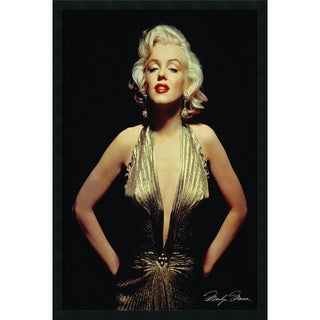 'Marilyn Monroe (Gold)' Framed Textured Art