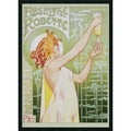 &#39;Absinthe Robette&#39; Framed Textured Art