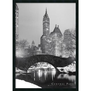 Central Park' Framed Art Print with Gel Coated Finish