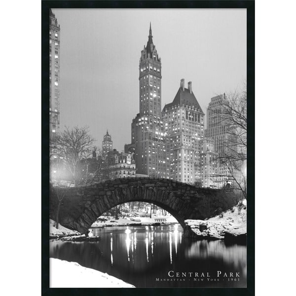 Central Park' Framed Art Print with Gel Coated Finish
