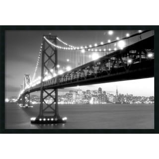 San Francisco' Framed Art Print with Gel Coated Finish