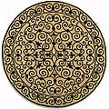 review detail Safavieh Hand-hooked Iron Gate Ivory/ Navy Blue Wool Rug (3' Round)