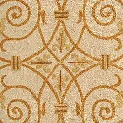 Safavieh Hand-hooked Iron Gate Ivory/ Gold Wool Rug (2'9 x 4'9)