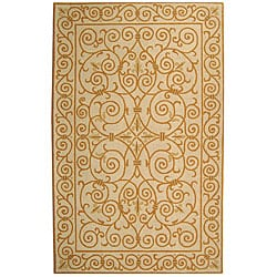 Safavieh Hand-hooked Iron Gate Ivory/ Gold Wool Rug (2'9 x 4'9)