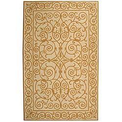 Safavieh Hand-hooked Iron Gate Ivory/ Gold Wool Rug (3'9 x 5'9)