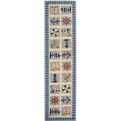 Safavieh Hand-hooked Sailor Ivory Wool Runner (2'6 x 10')