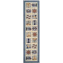 Safavieh Hand-hooked Sailor Ivory Wool Runner (2'6 x 8')