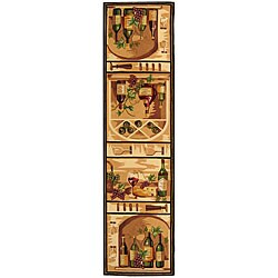 Safavieh Hand-hooked Winery Gold/ Multi Wool Runner (2'6 x 8')