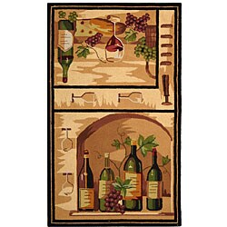 Safavieh Hand-hooked Winery Gold/ Multi Wool Runner (2'6 x 4')