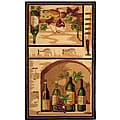 Hand-hooked Winery Gold/ Multi Wool Runner (2'6 x 4')