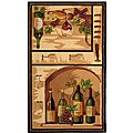Hand-hooked Winery Gold/ Multi Wool Rug (3'9 x 5'9)