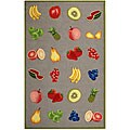 Safavieh Hand-hooked Fruits Stone Grey Wool Rug (3'9 x 5'9)