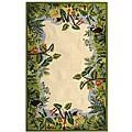 Safavieh Hand-hooked Safari Beige/ Green Wool Rug (7'9 x 9'9)