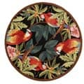 Safavieh Hand-hooked Parrots Black Wool Rug (8' Round)