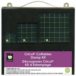 Cricut Cuttables Acrylic Craft/Scrapbooking Stamp Kit (Set of Four)