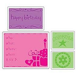 Sizzix Textured Impressions Birthday Embossing Folders (Pack of 4)