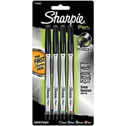 Sanford Fine Point Sharpie Pens (Pack of 4)