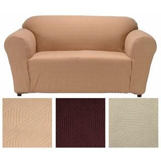 Double Diamond Textured Fabric Chair Slipcover