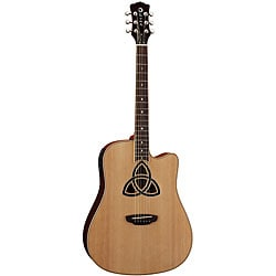 Luna Trinity Dreadnought Cutaway Acoustic/ Electric Guitar