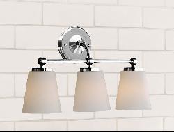Chrome Bathroom Triple Sconce