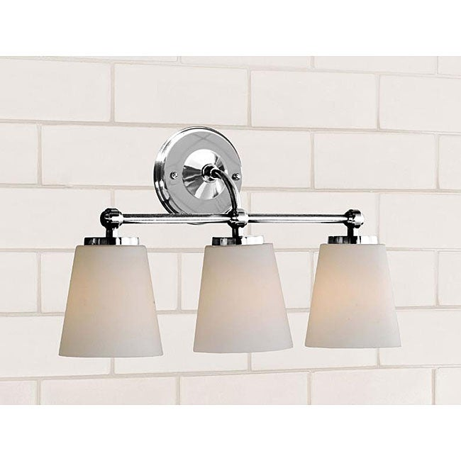 Bathroom Vanity Lights Overstock : Chrome Bathroom Triple Sconce - 12063957 - Overstock.com Shopping - Top Rated The Lighting Store ...