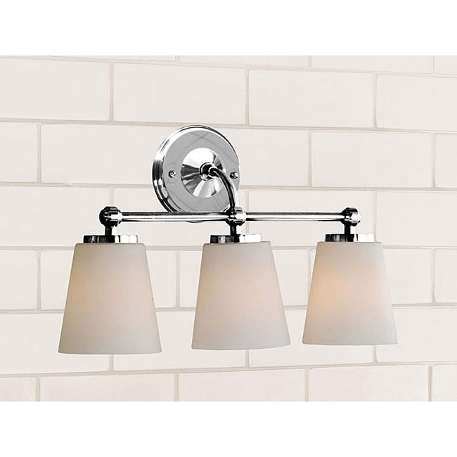 Chrome Bathroom Triple Sconce - 12063957 - Overstock.com Shopping - Top Rated The Lighting Store ...