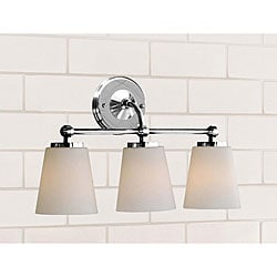 Chrome Bathroom Triple Sconce