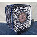 Set of 4 Tabarka Design 9-inch Square Plates (Tunisia)