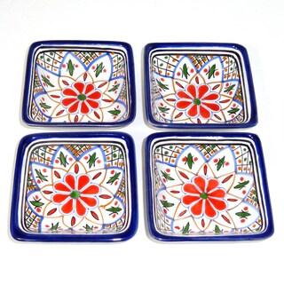 Tabarka Design Square Sauce Dishes (Tunisia)