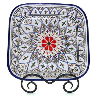Tabarka 12-inch Square Serving Bowl (Tunisia)