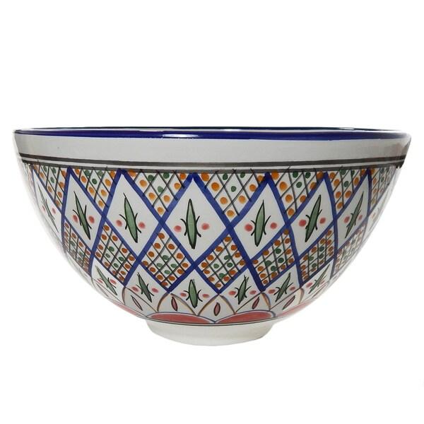 Tabarka 12-inch Deep Salad Bowl (Tunisia)
