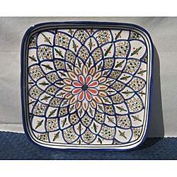 Tabarka 11-inch Square Platter (Tunisia)