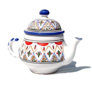 Tabarka Design Large Teapot (Tunisia)