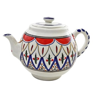 Tabarka Design Large Teapot (Tunisia)