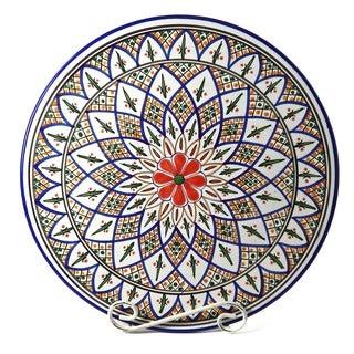 Tabarka Design Large Round Platter (Tunisia)