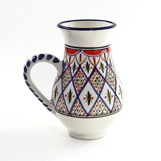 Large Tabarka Design Pitcher (Tunisia)