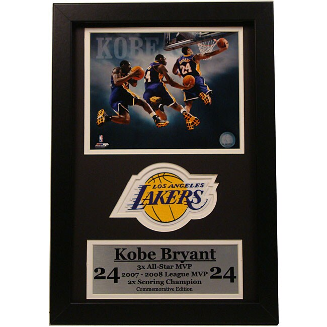 Kobe Bryant 12x18 Custom Frame Print and Stat Frame
