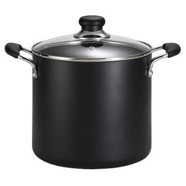 T-fal Black Nonstick 8-quart Stock Pot