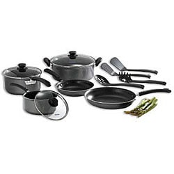 WearEver C957SC64 Grey 12-piece Nonstick Cookware Set