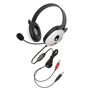 Califone Kids Stereo/Pc Headph Panda 3.5Mm Plug Via Ergoguys