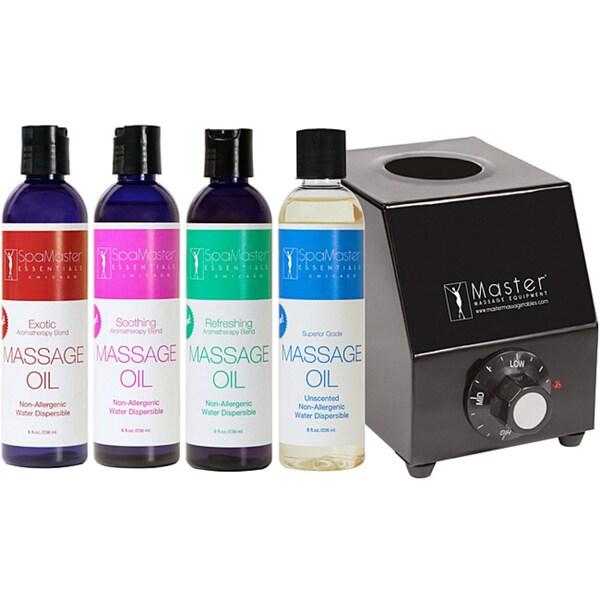 Master Massage SpaMaster Essentials Oil Warmer Kit