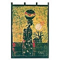 Batik 'Palm Wine Seller' Wall Hanging (Ghana)
