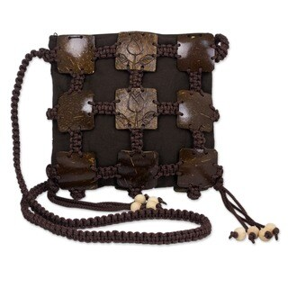Coconut Shell 'Earth Roses' Shoulder Bag (Thailand)