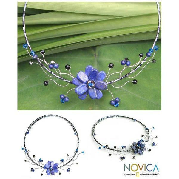 'Blue Bouquet' Lapis Lazuli Choker (Thailand)