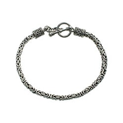 Sterling Silver 'Hill Tribe' Braid Bracelet (Indonesia)