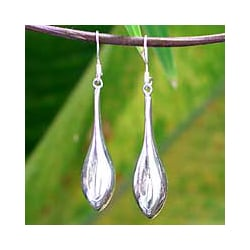 Sterling Silver 'Dewdrops' Drop Earrings (Thailand)